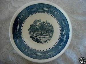 Vintage Collectible Cobalt Blue Scenic Bowl - MINT
