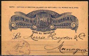 Nicaragua 1893 impr PC Correo Urbano Granada VF
