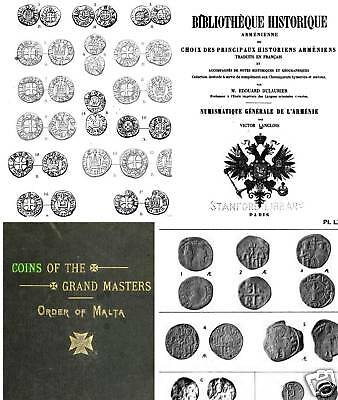 115 books on coins of Byzantium Crusaders Malta Cilicia Christian East  Axum DVD on Rummage