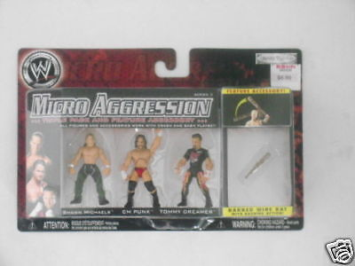 Wwe - Micro Aggression Pack De 3 Figurines 100% Neuf