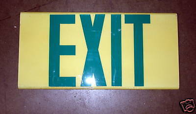 Exit Sign Green Lettering Low-level Sign No Power Esi-g