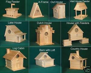 Bird-House-amp-Feeder-Kit-Sampler-10-styles-2-of-ea-Hand-made-in-USA-AJ1100