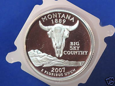 Click now to see the BUY IT NOW Price! 2007-S MONTANA SILVER QUARTER DCAM GEM PROOF ROLL OF 40 COINS