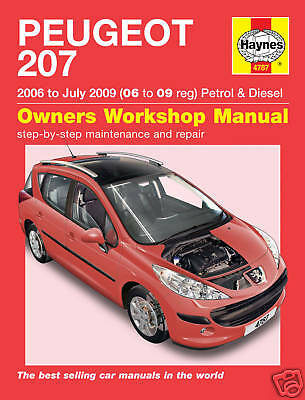 Haynes Peugeot 207 1.4 1.6 Petrol Turbo Diesel 2006-2009 Manual 4787 NEW