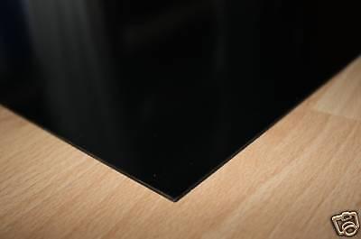 1 Hart PVC Kunststoffplatte schwarz 1000x495x2mm