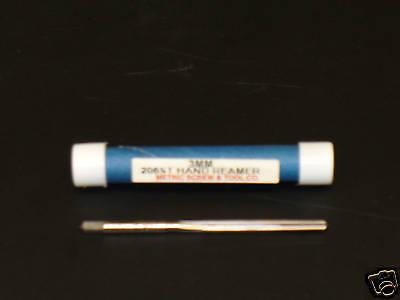 Metric 3mm Straight Flute Hand Reamer Din 206 H.s.s.