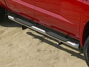 07 08 09 dodge dakota chrome side steps nerf bars crew cab. Black Bedroom Furniture Sets. Home Design Ideas
