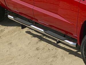07 08 09 dodge dakota chrome side steps nerf bars crew cab. Black Bedroom Furniture Sets. Home Design Ideas