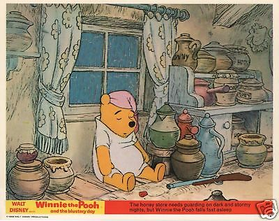 Winnie The Pooh lobby cards - Winnie The Pooh and the Blustery Day