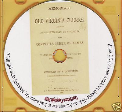 Memorials of Old Virginia Clerks 1634 - 1888
