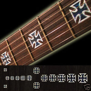 Iron-Cross-BP-Fret-Markers-Inlay-Sticker-Decal-Guitar