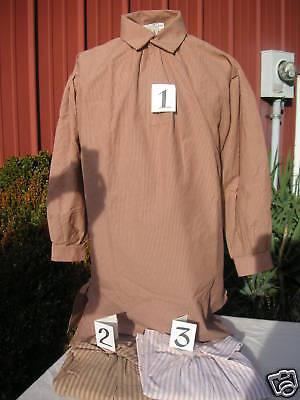 18th C Rev War or F&I Striped Cotton Shirt