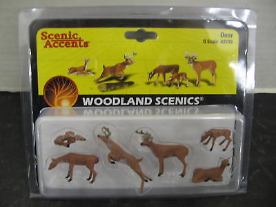 Woodland Scenics A2738 O Scale Deer Figures In Package