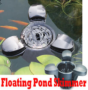 660gph floating pond pool surface skimmer for koi fish for Floating pond skimmer
