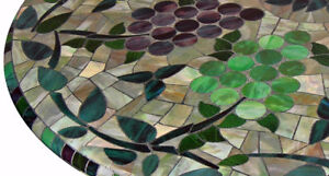 Stained-Glass-ROUND-FITTED-Dining-TABLECLOTH-Patio-Picnic-TABLE-Cover-Pad