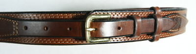 western brown black leather embossed ranger belt 625r ebay
