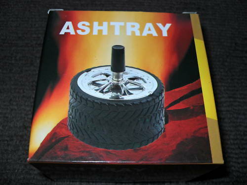 ASHTRAY-TYRE-SPINNING-TYPE-HIGH-QUALITY-12-MONTH-WARRANTY-X2