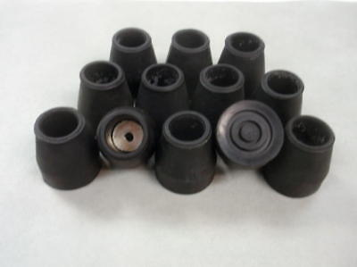 96 Each 7/8 Black Rubber Tips For Canes Chair Legs Walker Fits Snug On A Cane