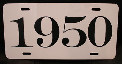 1950 Year License Plate Fits Chevy Ford Chrysler Buick Oldsmobile Cadillac 88 98