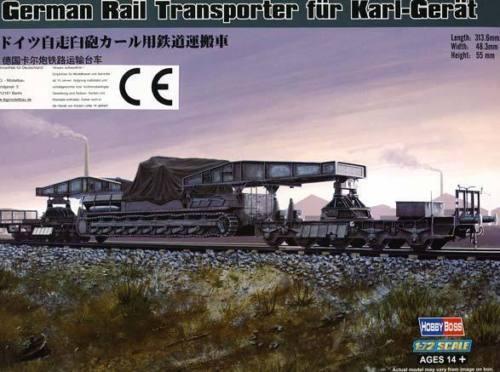 Mörser Karl-Gerät Transporterwagen Transporterwagon Eisenbahn Transporter 1:72