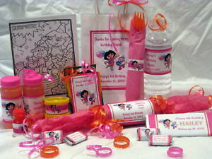 Dora-Birthday-Favors-Water-Candy-Popcorn-Wrapper-Labels