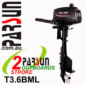 3-6HP-PARSUN-Outboard-2-stroke-Long-Shaft-BRAND-NEW-2yr-FULL-FACTORY-Warranty