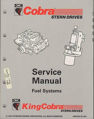 1993 Omc Cobra Stern Drive Service Manual Fuel System
