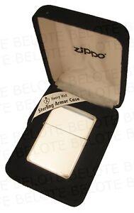 Zippo-ARMOR-High-Polish-Sterling-Silver-Lighter-Mdl-26