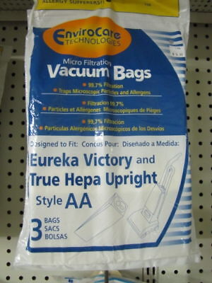 Eureka AA Vacuum Bags Victory Style 2 Packages of 3 each Vacuum Cleaner Accessories