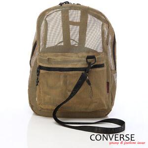 BN CONVERSE Unisex Mesh Backpack Book Bag Gold