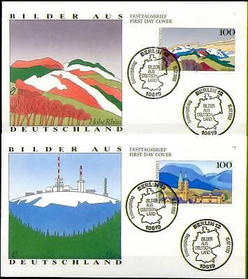 BRD 1993: Harz und Rhön! FDC Nr 1685+1686! Berliner Ersttags-Sonderstempel! 1610