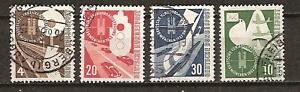 WEST GERMANY # 698-701 Used TRANSPORT & COMMUNICATIONS
