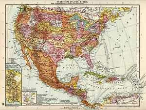 Antique-map-The-United-states-America-Mexico-USA-1926