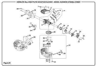 Homelite 308675011 Fuel Gas Tank Kit 26cc Mightylite