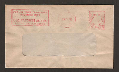 Rhodesia, 1976 2½c Meter Mail window envelope,Transport