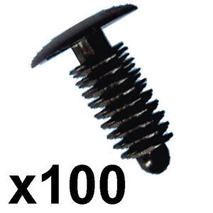 100x-Plastic-Car-Trim-Clips-Fit-6-7mm-hole-14mm-Head