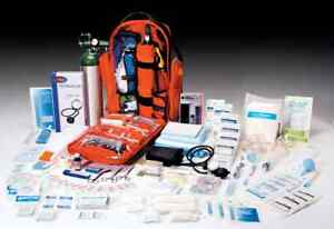 FIRST RESPONDER EMS STOCKED O2 OXYGEN TRAUMA BACKPACK