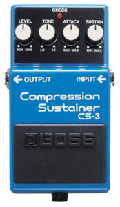 BOSS CS3 CS-3 COMPRESSION SUSTAINER GUITAR EFFECT PEDAL FREE Priority Mail Ship