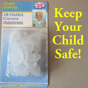 18 Baby Child Infant Toddler Safety Electric Outlet Plug Cover Shock Guard