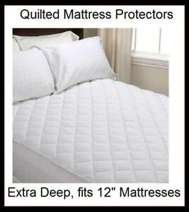 30cm extra deep 12 quilted fitted mattress protector ebay for Furniture 30cm deep