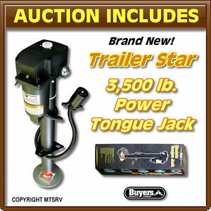 Buyers-Trailer-Star-3500-lb-Electric-Power-Tongue-Jack-Extends-18-6-BLACK