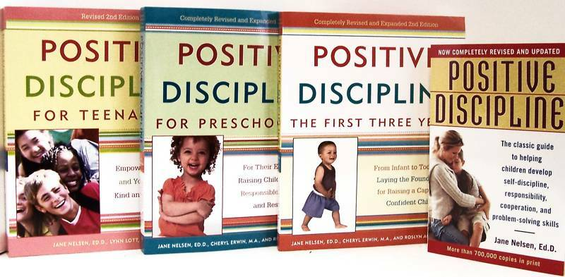 Positive Discipline First Three Years,preschoolers,teenagers Jane Nelsen 4bk Set