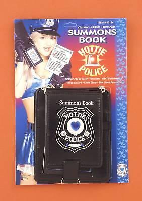 Hottie Police Gem Decorated Summons Book -