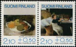 Finland-1991-Pro-Philately-Art-Painting-H-Schjerfbeck