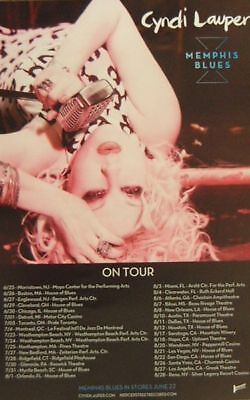 CYNDI LAUPER poster - MEMPHIS BLUES  - promo poster - 11 x 17 inches