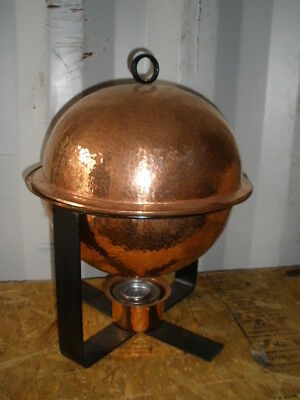4 Quart Sphere Chafer Hand Hammered Copper Chafers Free Shipping