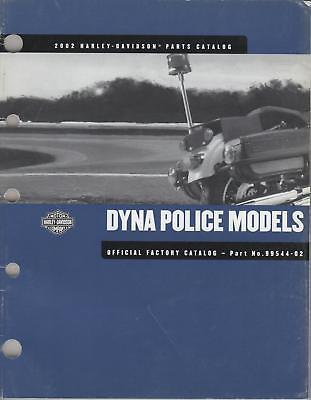 2002 Harley Davidson Motorcycle Dyna Police Part Manual