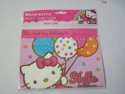 3 Amscan Hello Kitty Party Loot Bags 8 Pack 379303