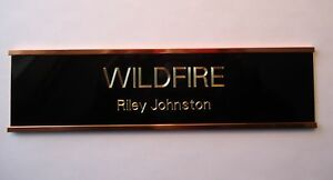 Quality Brass Horse Stall Name Plate Sign with Holder eBay