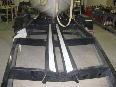 Boat Trailer Carpeted Bunk Plastic Slide Rail Glides